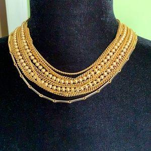 Vintage Marvella Gold Tone Multi Chain Necklace
